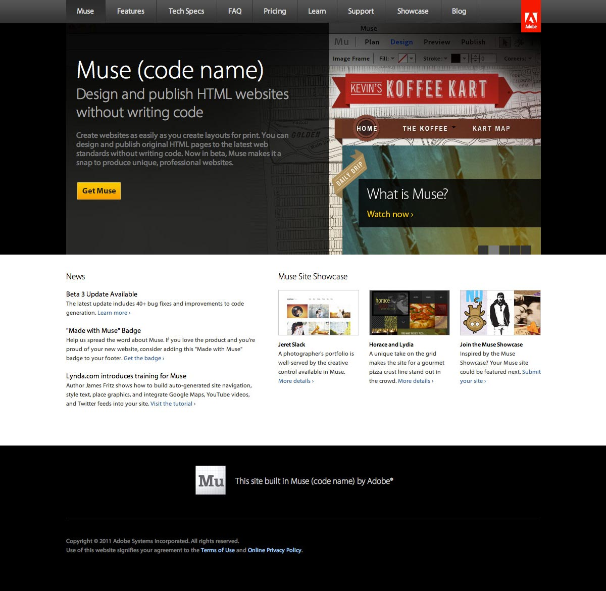 Adobe Muse | Home