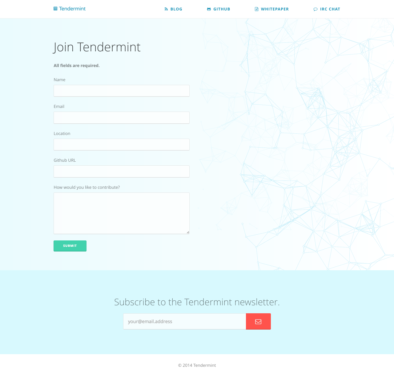 Tendermint | Form Page, Desktop