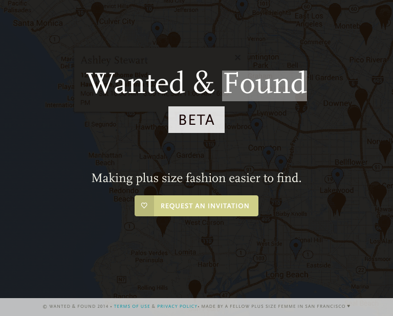 Wanted & Found | Public Landing, Smaller Screens