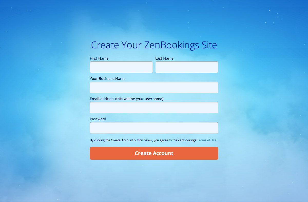 ZenBookings | Sign Up